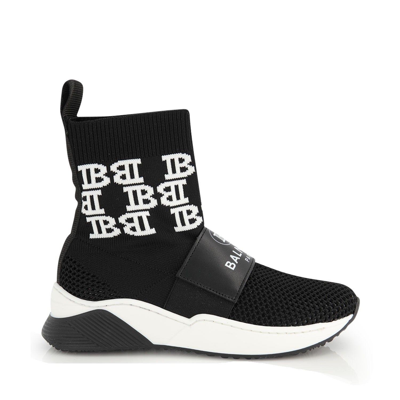 Afbeelding van Balmain 6M0136 kindersneakers zwart