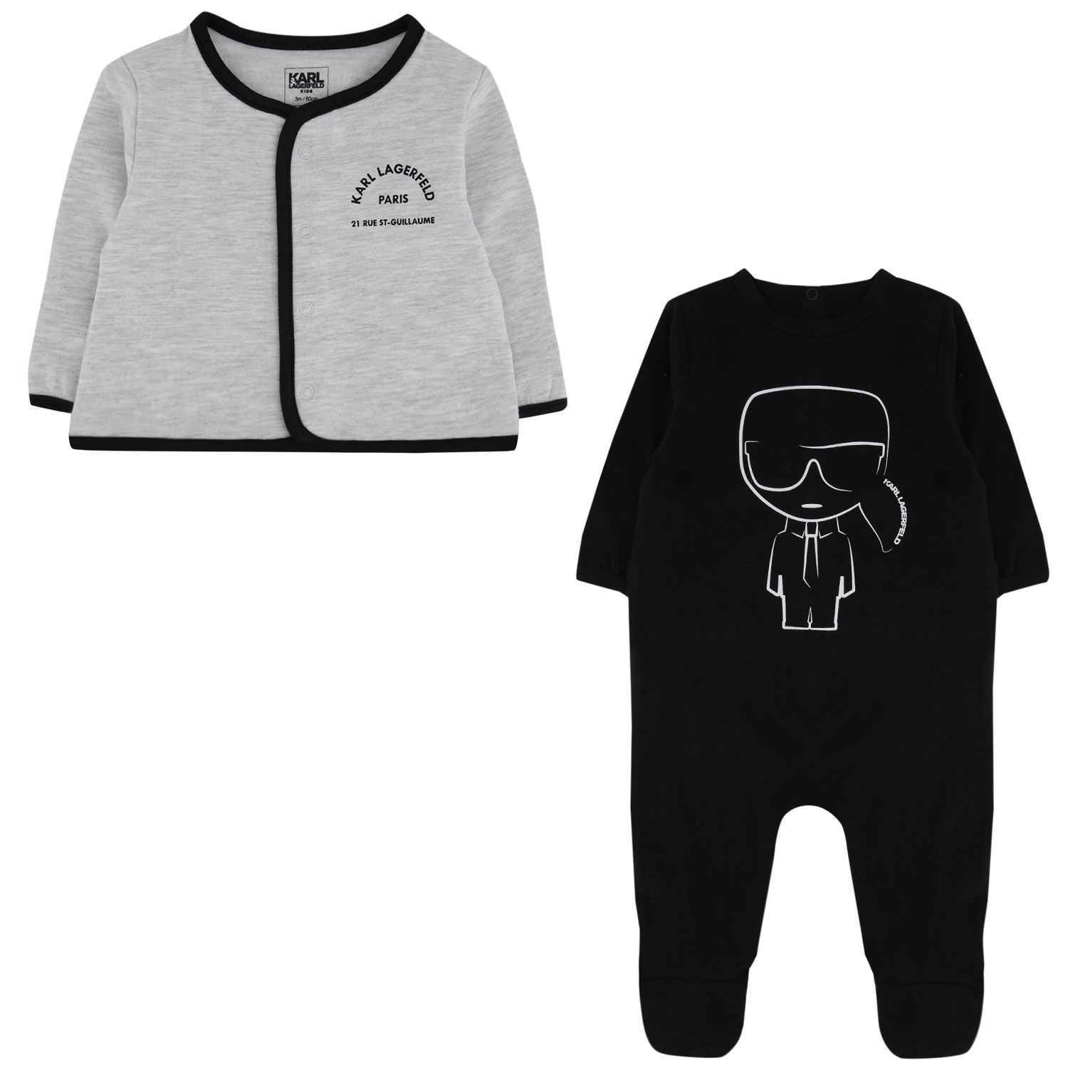 Picture of Karl Lagerfeld Z98066 baby playsuit black