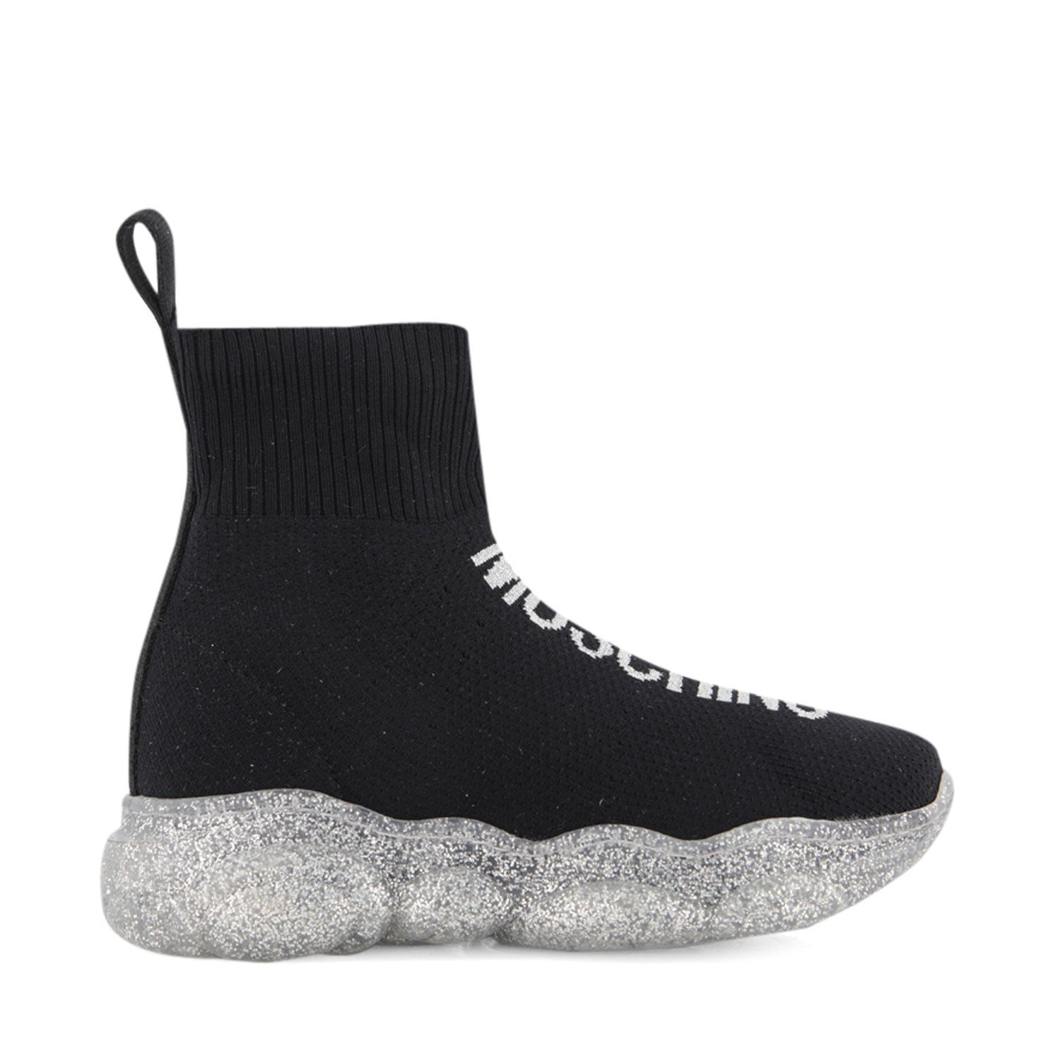 Picture of Moschino 65748 kids boots silver