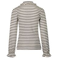 Afbeelding van Mayoral 4001 kinder t-shirt off white/zwart