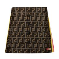 Picture of Fendi JFE060 A8XW kids skirt brown