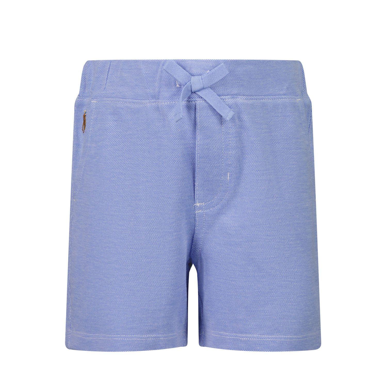 Picture of Ralph Lauren 320833462 baby shorts light blue