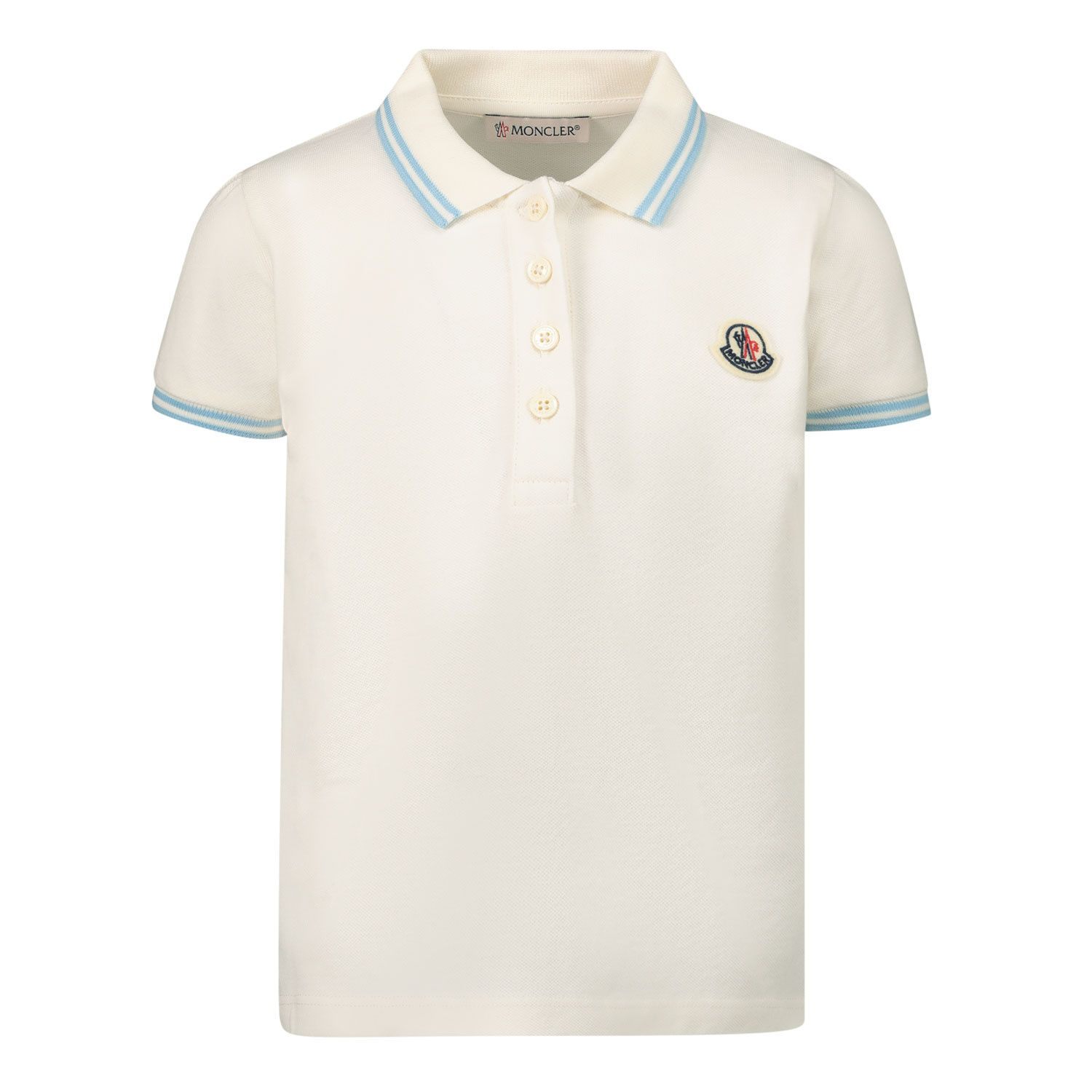 Picture of Moncler 8A70010 baby poloshirt off white