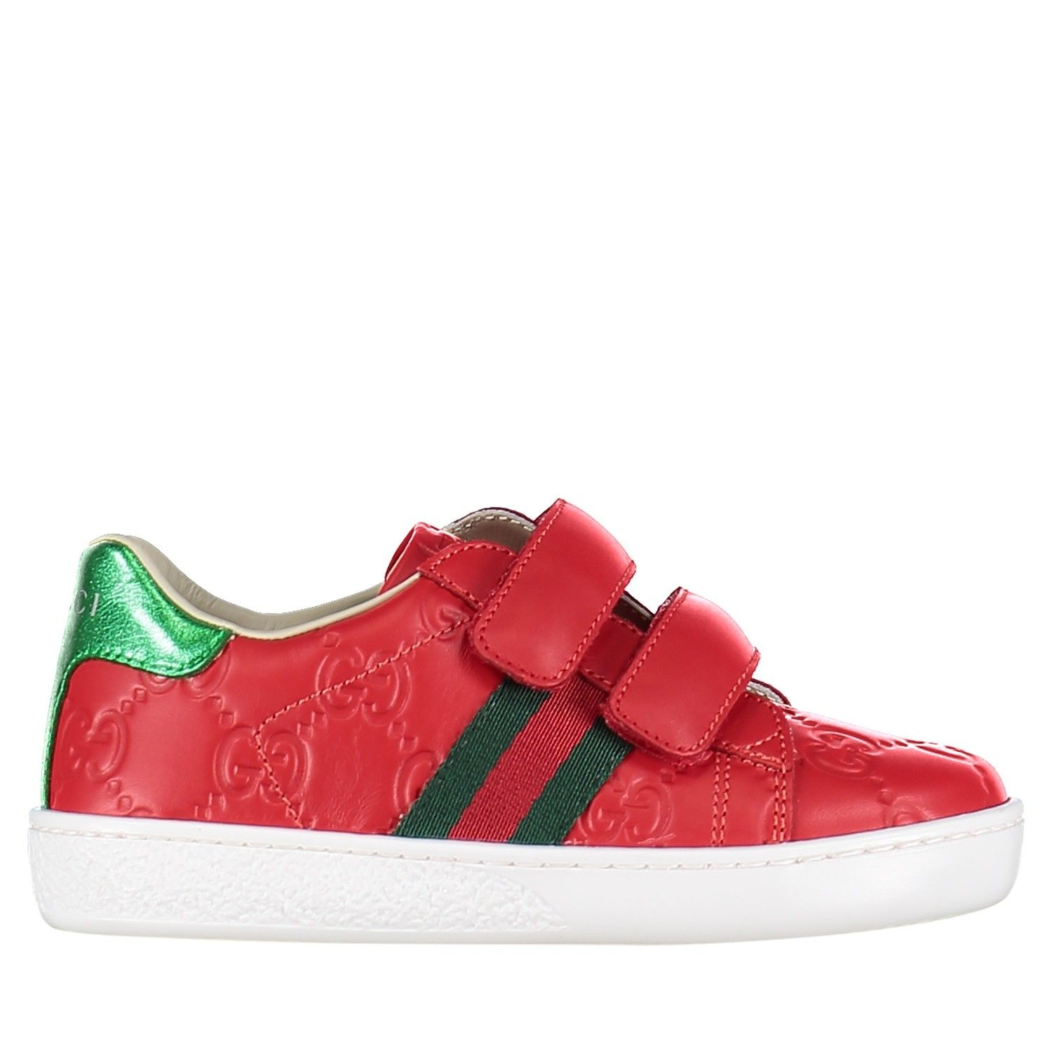 Picture of Gucci 455447 DF720 kids sneakers red