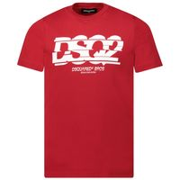 Picture of Dsquared2 DQ03L4 kids t-shirt red