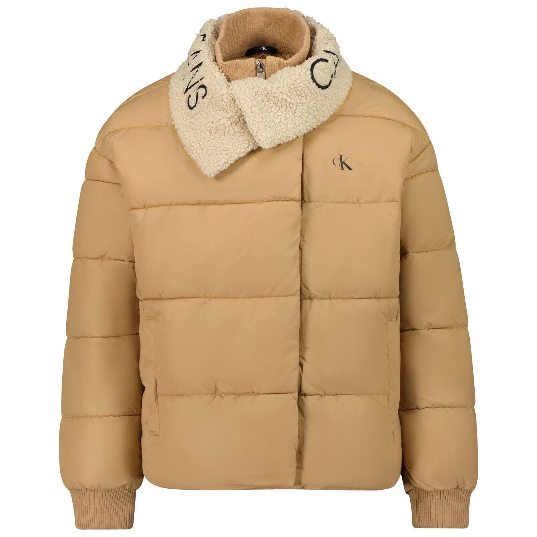 Picture of Calvin Klein IG0IG01172 kids jacket beige