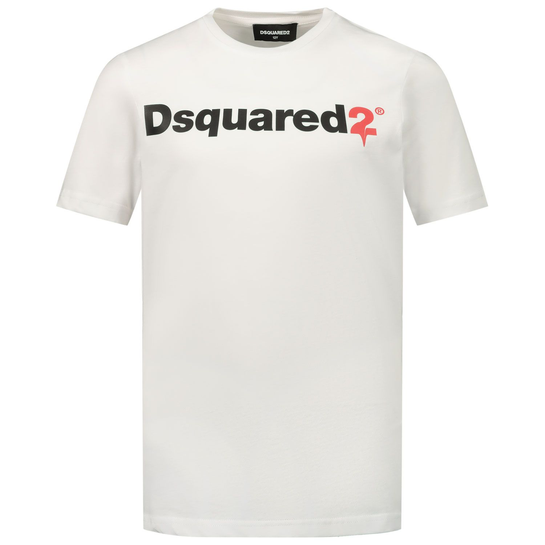 Afbeelding van Dsquared2 DQ046T kinder t-shirt wit