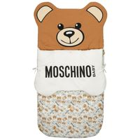 Picture of Moschino MUE00C baby accessory off white