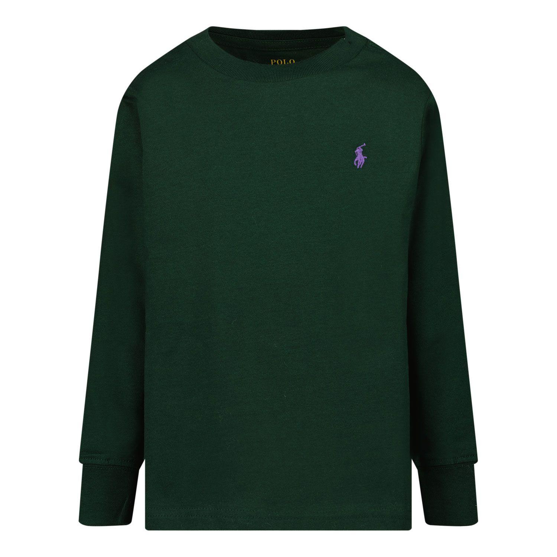 Afbeelding van Ralph Lauren 854677 kinder t-shirt donker groen