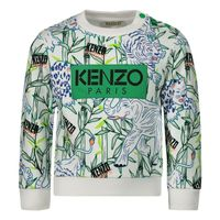 Picture of Kenzo 15598BB baby sweater white