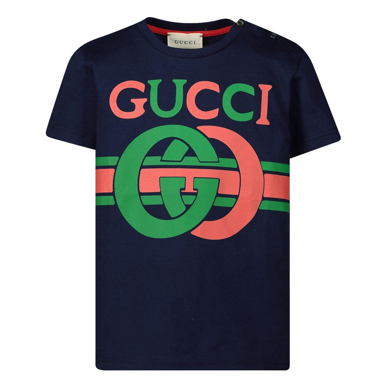 Afbeelding van Gucci 548034 XJBCG baby t-shirt navy