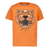 Picture of Kenzo K05037 baby shirt orange