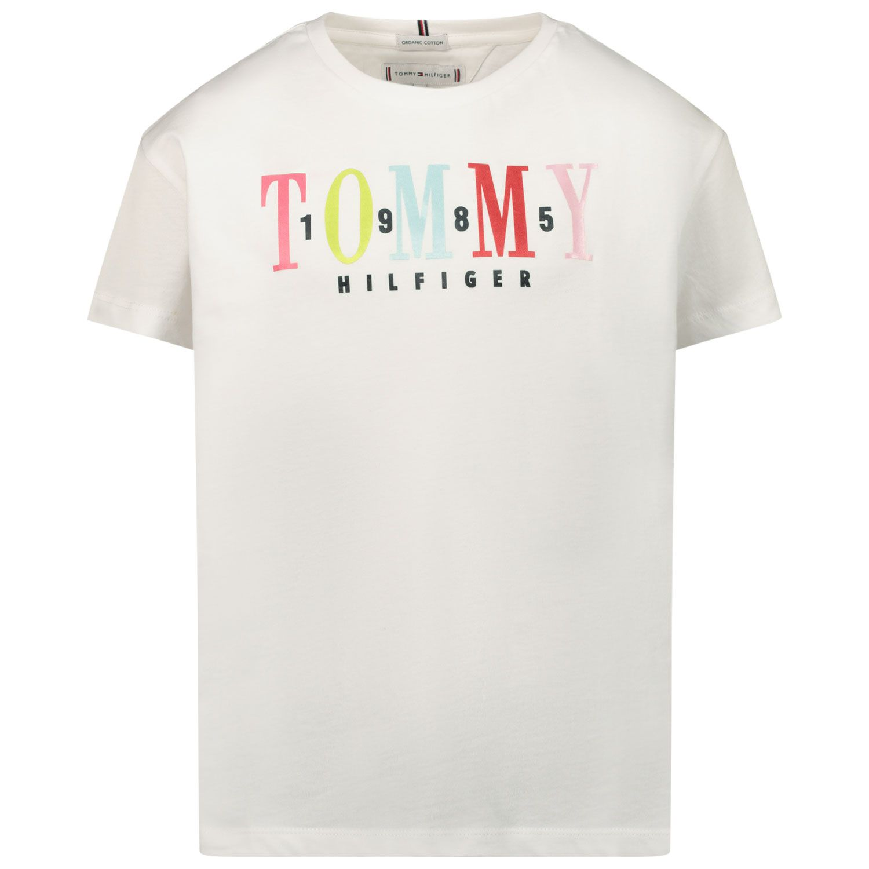 Picture of Tommy Hilfiger KG0KG05761 kids t-shirt white