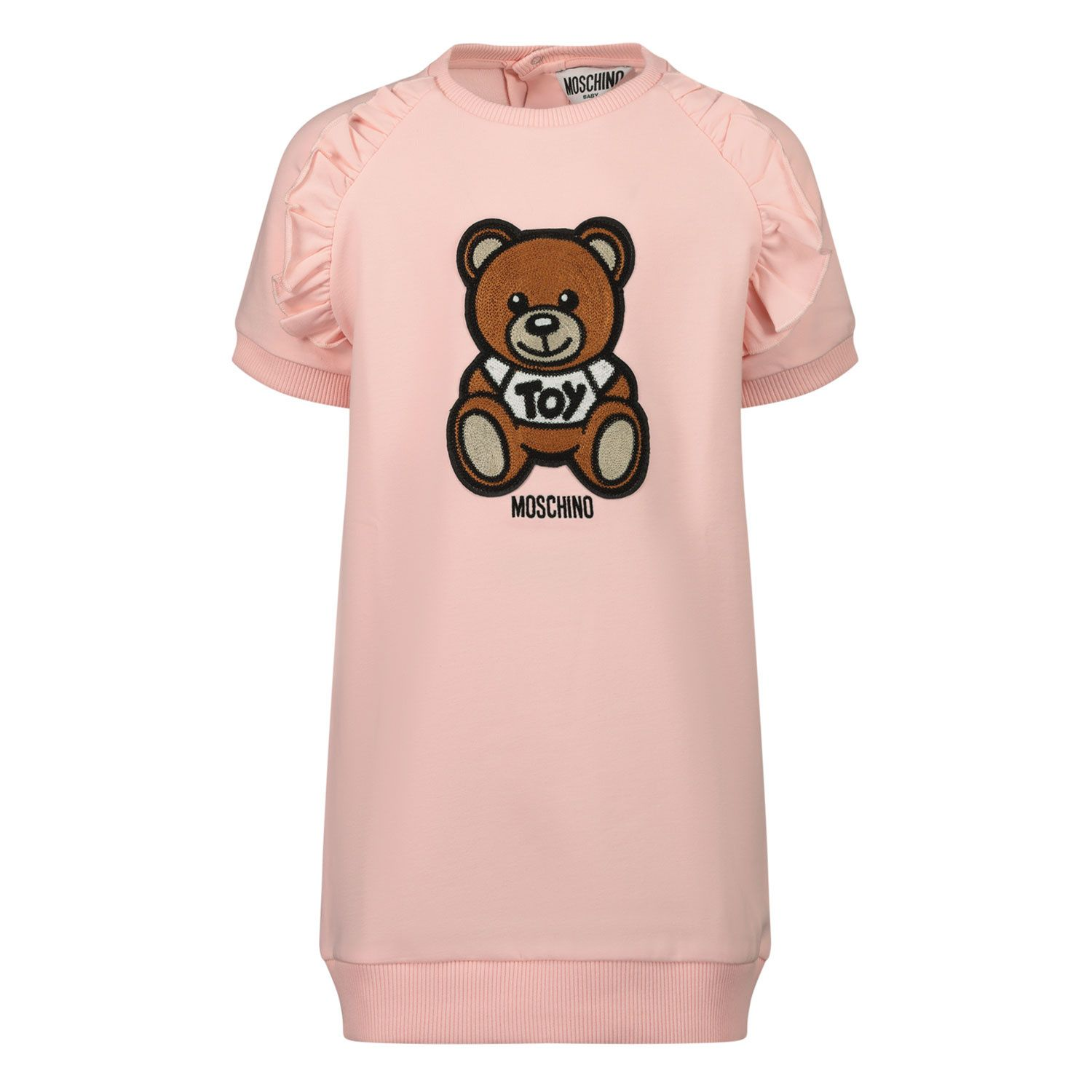 Picture of Moschino MDV08O baby dress light pink