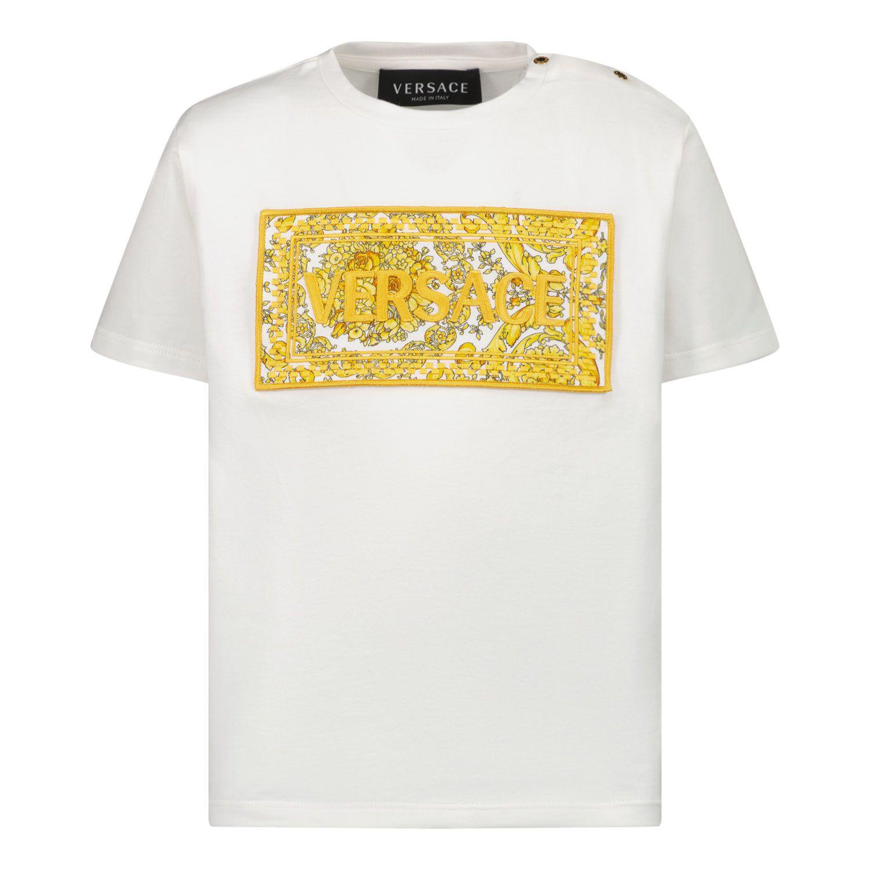 Afbeelding van Versace 1000102 1A00268 baby t-shirt wit