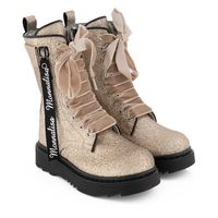 Picture of MonnaLisa 878005 kids boots gold