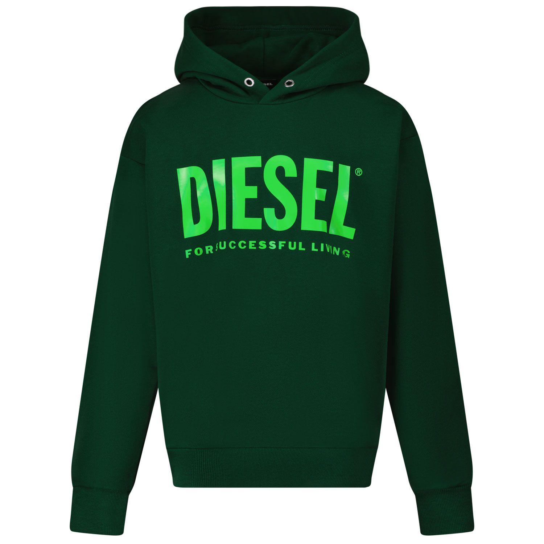 Afbeelding van Diesel J00094 kindertrui donker groen