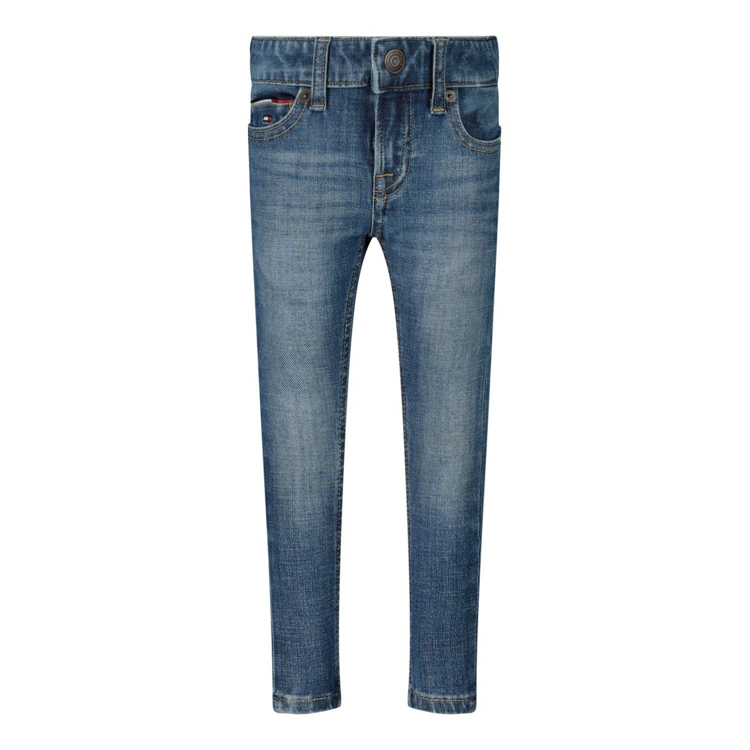 Picture of Tommy Hilfiger KB0KB05795B baby pants jeans