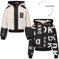 Afbeelding van DKNY D36648 kinderjas wit