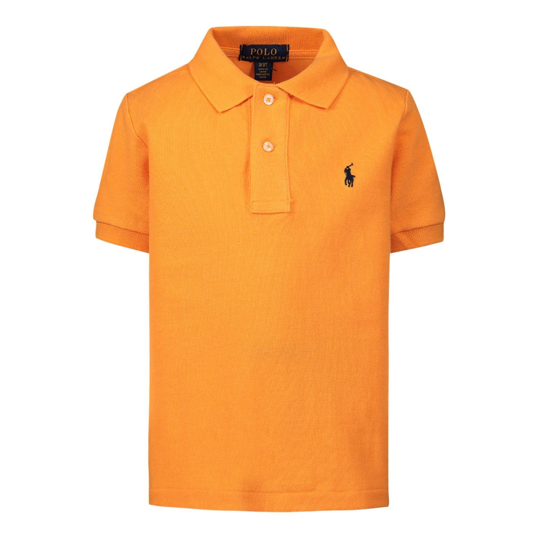 Picture of Ralph Lauren 703632 kids polo shirt orange
