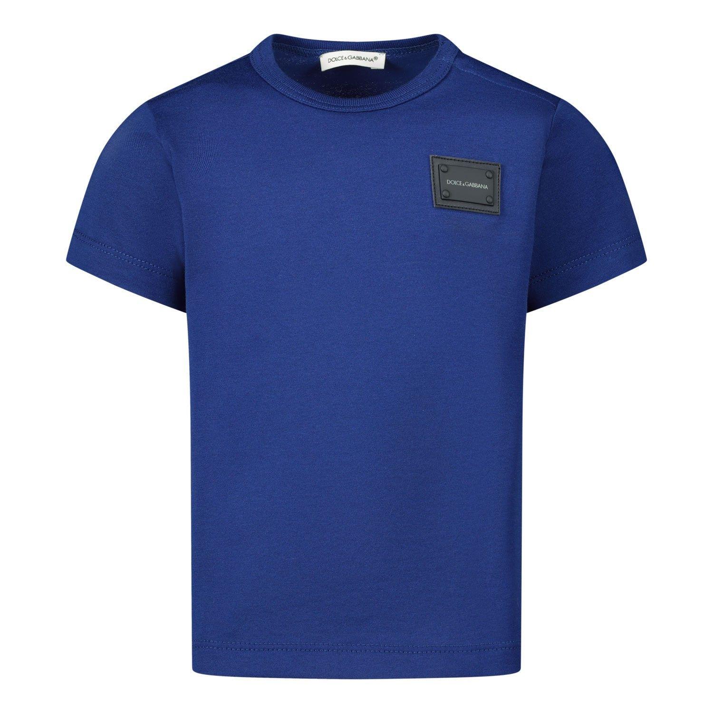 Picture of Dolce & Gabbana L1JT7T G7OLK baby shirt blue