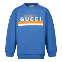 Picture of Gucci 629430 baby sweater blue