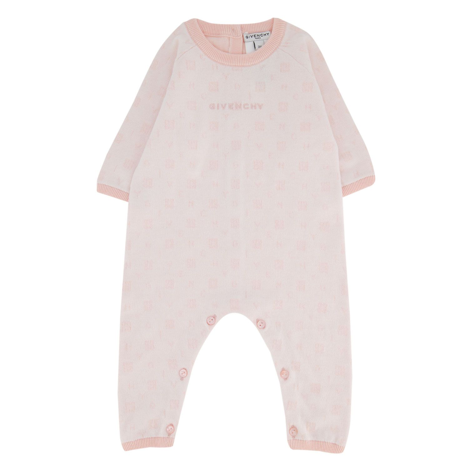 Picture of Givenchy H94051 baby playsuit light pink