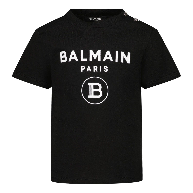 Bild von Balmain 6O8A21 Baby-T-Shirt Schwarz