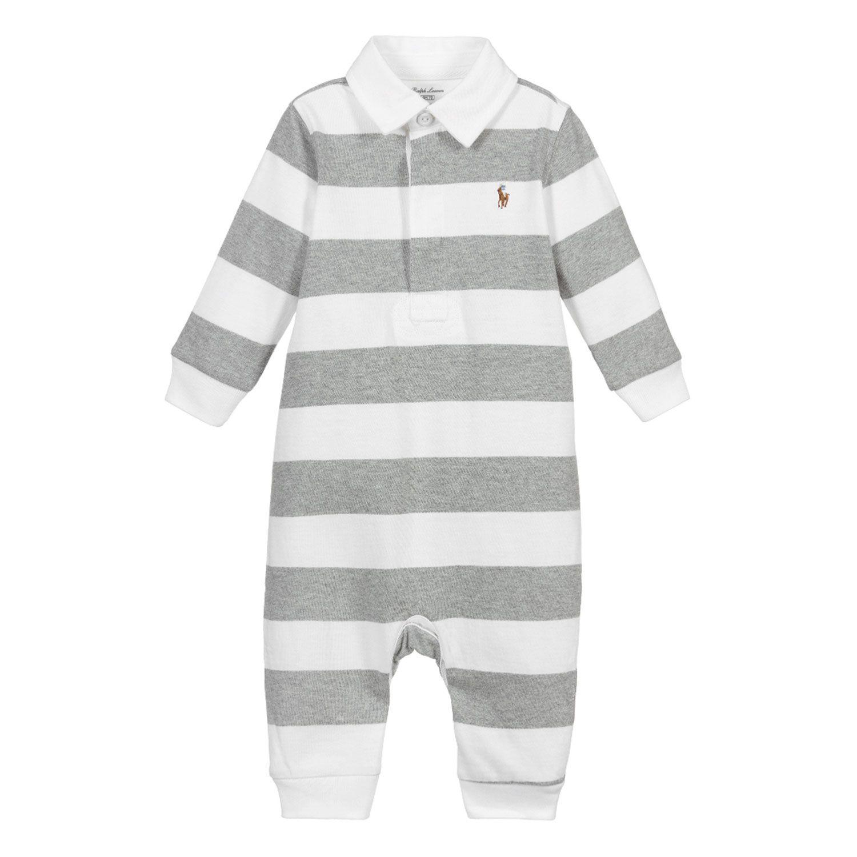 Picture of Ralph Lauren 320748402 baby playsuit grey