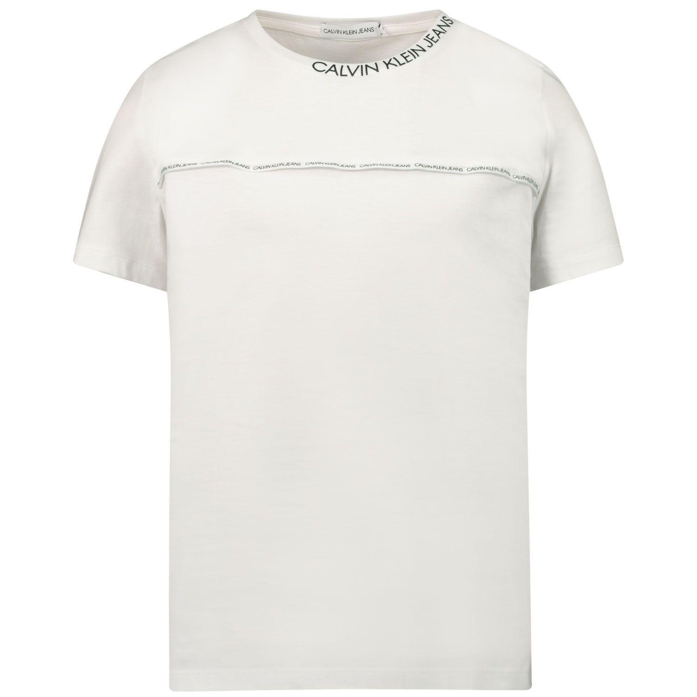 Picture of Calvin Klein IB0IB00695 kids t-shirt white