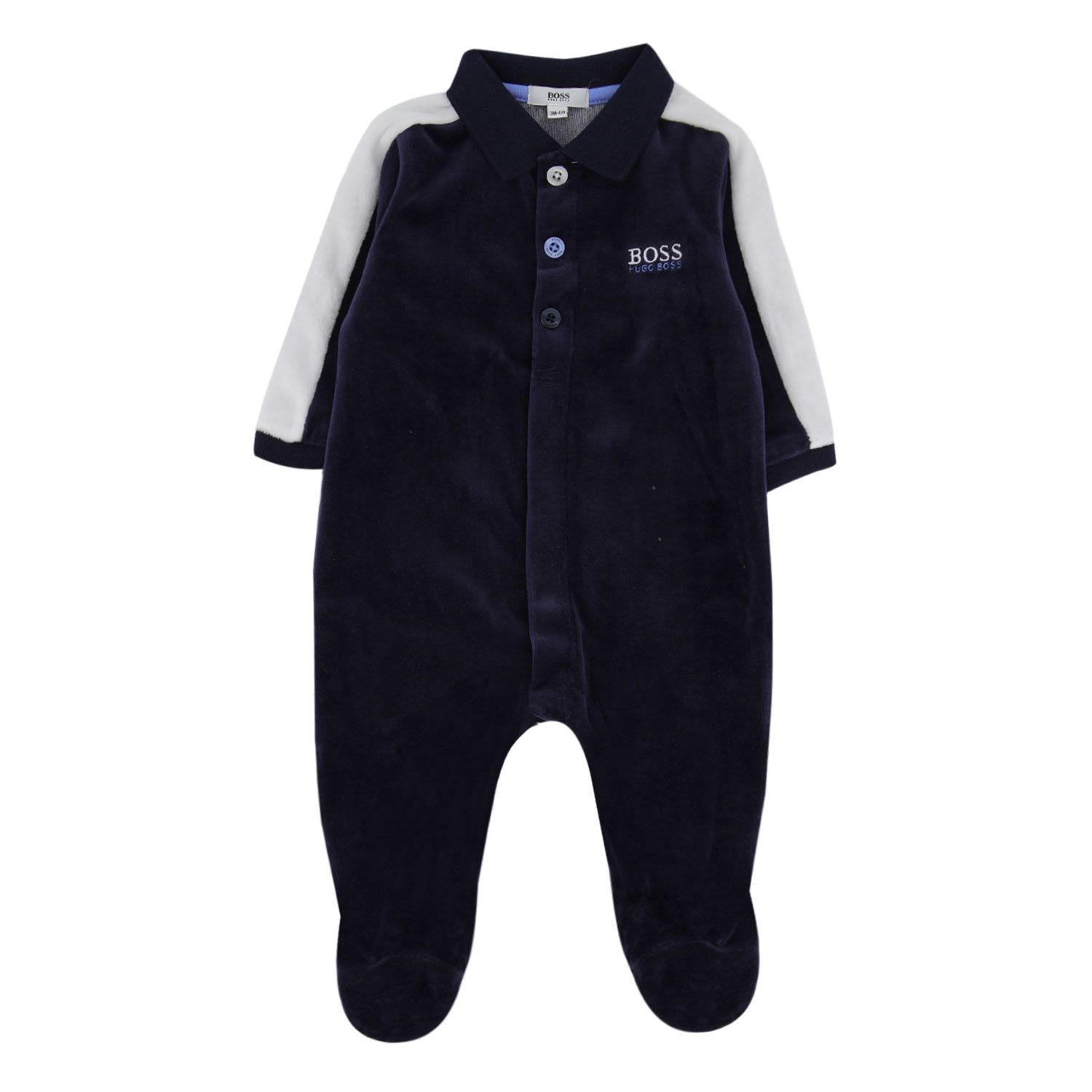 Picture of Boss J97162 baby playsuit navy