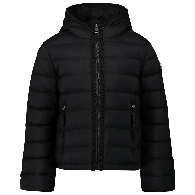 Picture of Moncler 1A50P10 kids jacket black