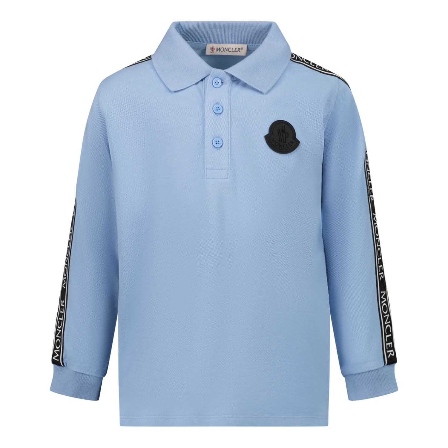 Picture of Moncler 8B71020 baby poloshirt light blue