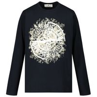 Picture of Stone Island MO731621157 kids t-shirt navy