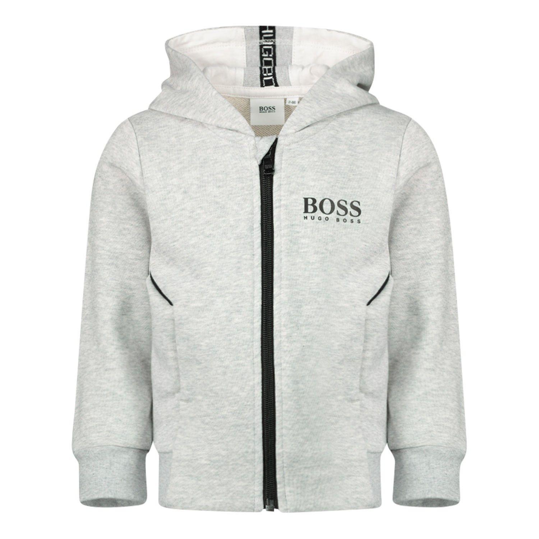 Afbeelding van Boss J05786 baby vest grijs
