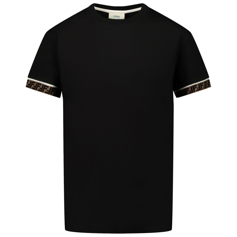 Afbeelding van Fendi JUI018 7AJ kinder t-shirt zwart