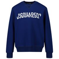 Picture of Dsquared2 DQ0475 kids sweater cobalt blue