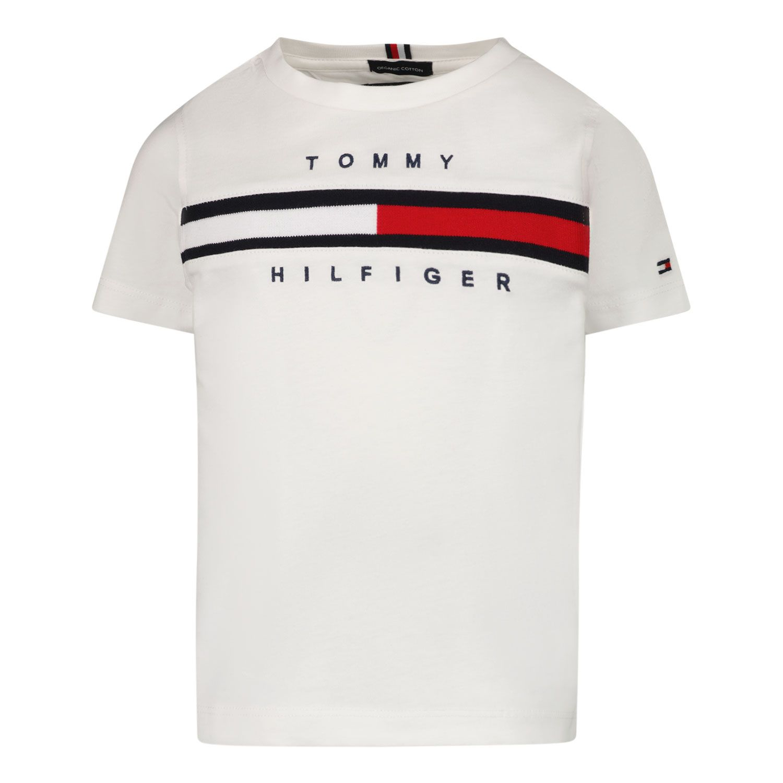 Afbeelding van Tommy Hilfiger KB0KB06532 B baby t-shirt wit