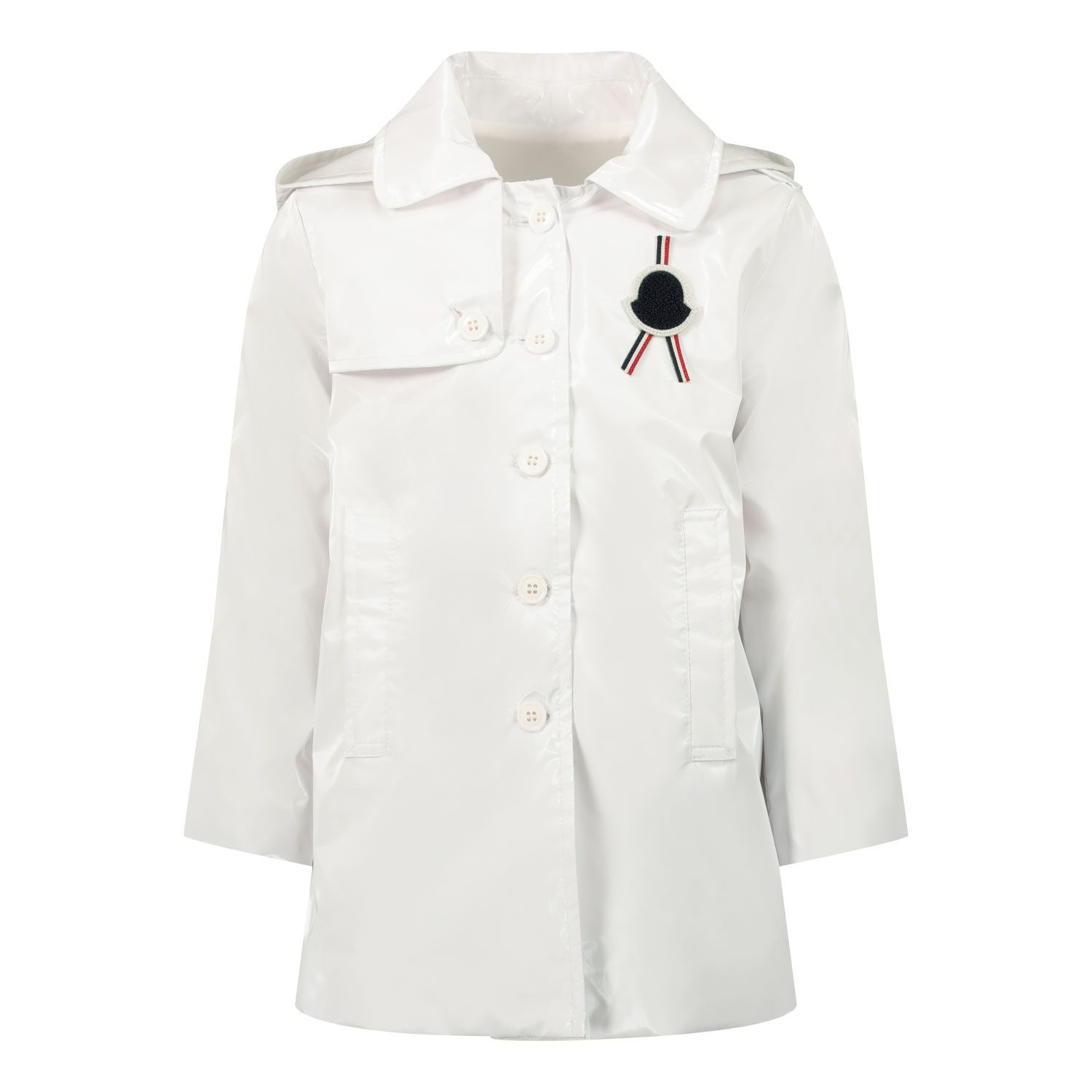 Picture of Moncler 1C70410 baby coat white