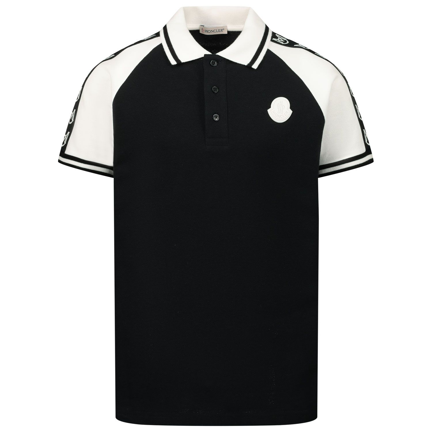 Picture of Moncler 8A71220 kids polo shirt black