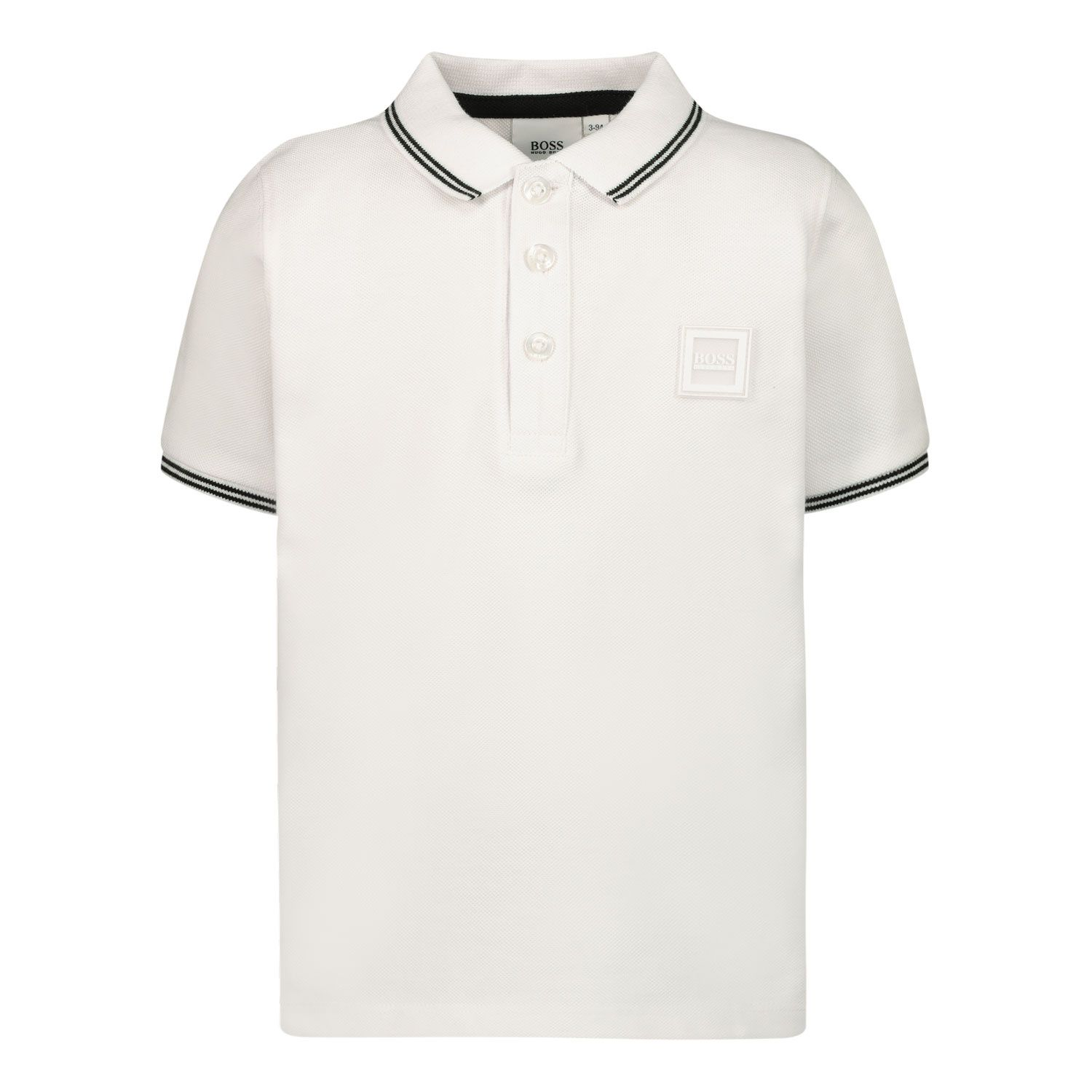 Picture of Boss J05846 baby poloshirt white