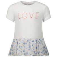 Picture of Guess K01I19 kids t-shirt white