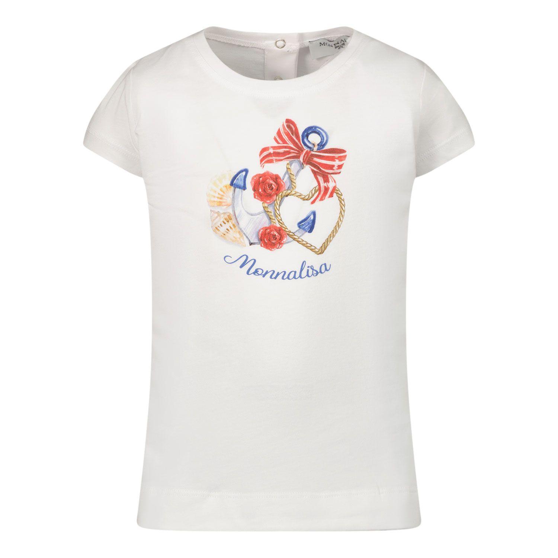 Afbeelding van MonnaLisa 397610SX baby t-shirt wit