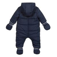 Picture of Boss J96087 baby snowsuit navy