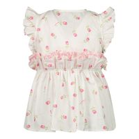 Picture of MonnaLisa 317301 baby blouse off white