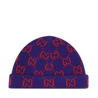 Picture of Gucci 627559 baby hat navy