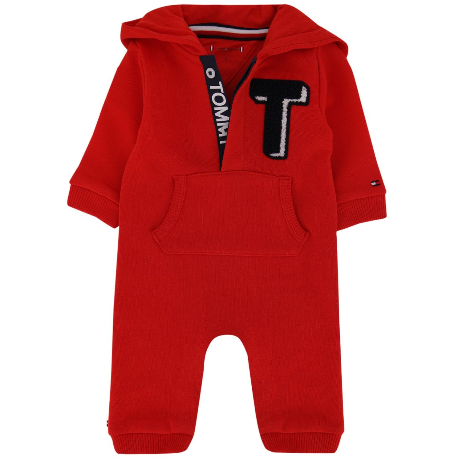 Picture of Tommy Hilfiger KN0KN01169 baby playsuit red