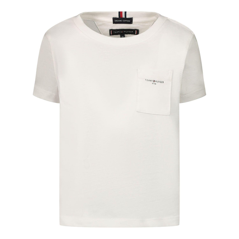 Bild von Tommy Hilfiger KB0KB06556B Baby-T-Shirt Weiß
