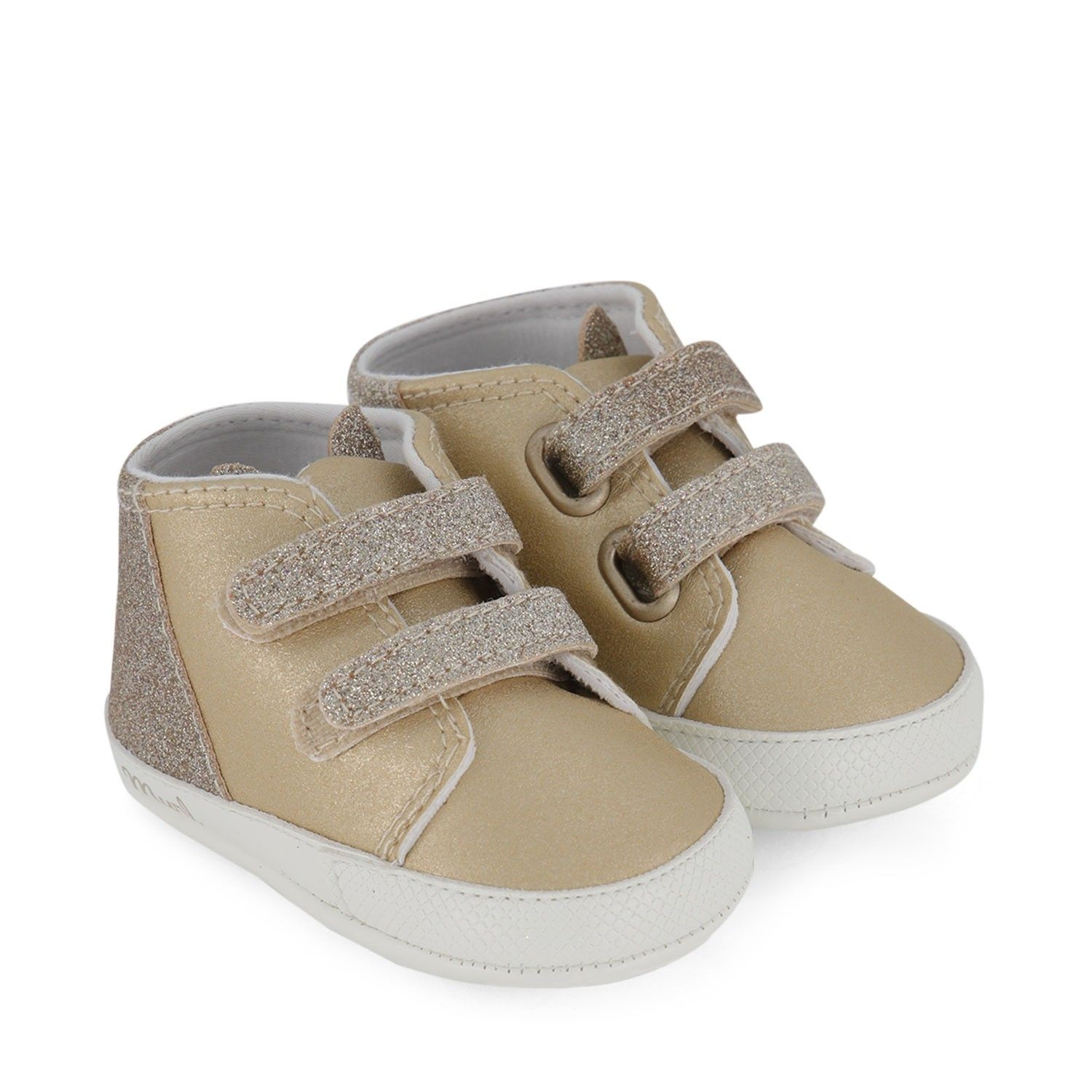 Picture of Mayoral 9338 baby shoes gold