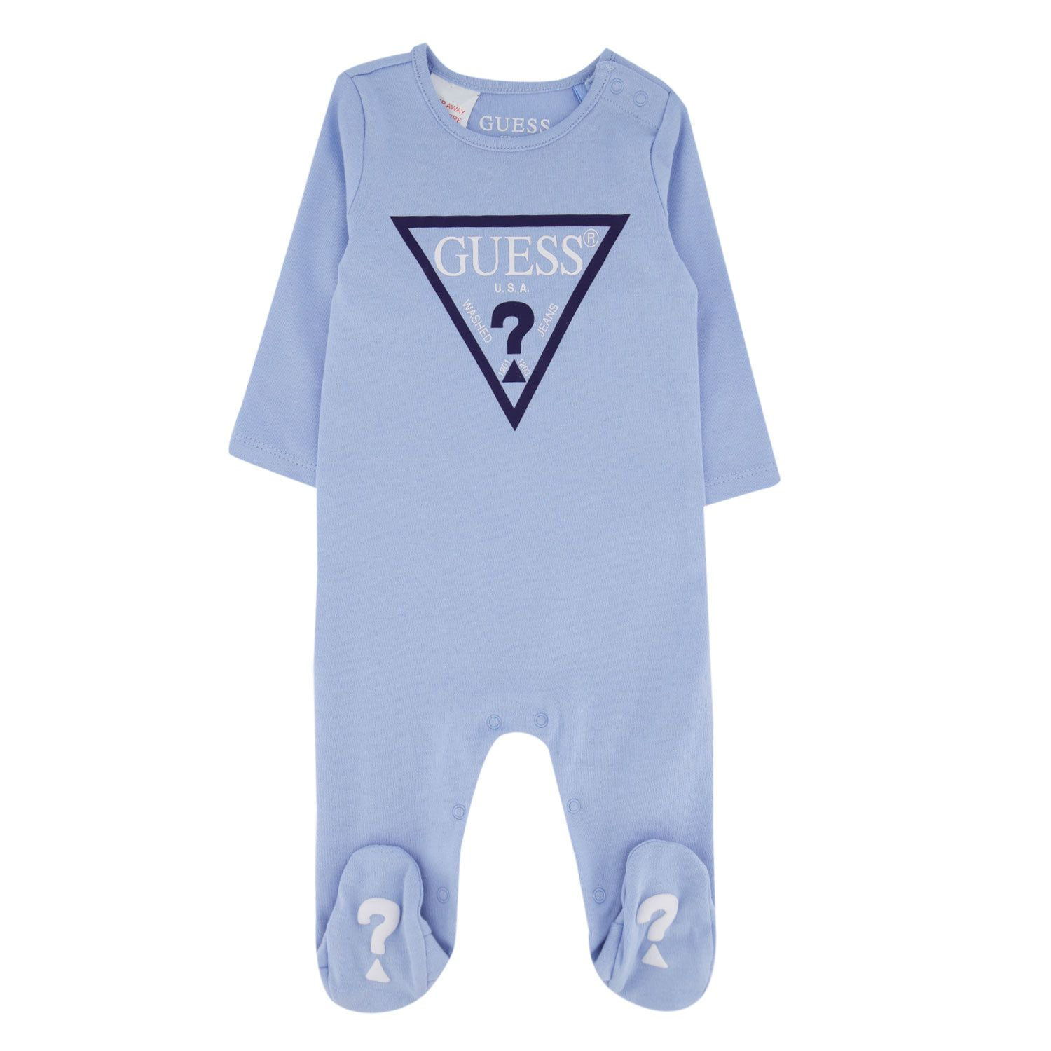 Picture of Guess H02W00/K83S0 baby playsuit light blue